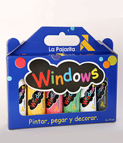 KIT WINDOWS LA PAJARITA, 6 FRASCOS